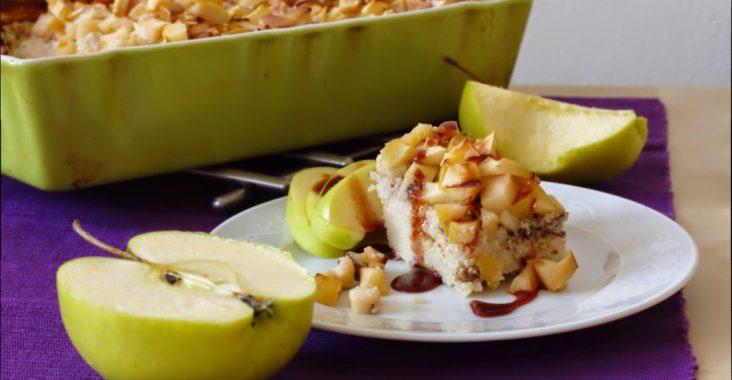 vegan jáhelník s jablky