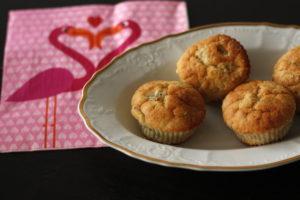 kiwibanánové muffiny