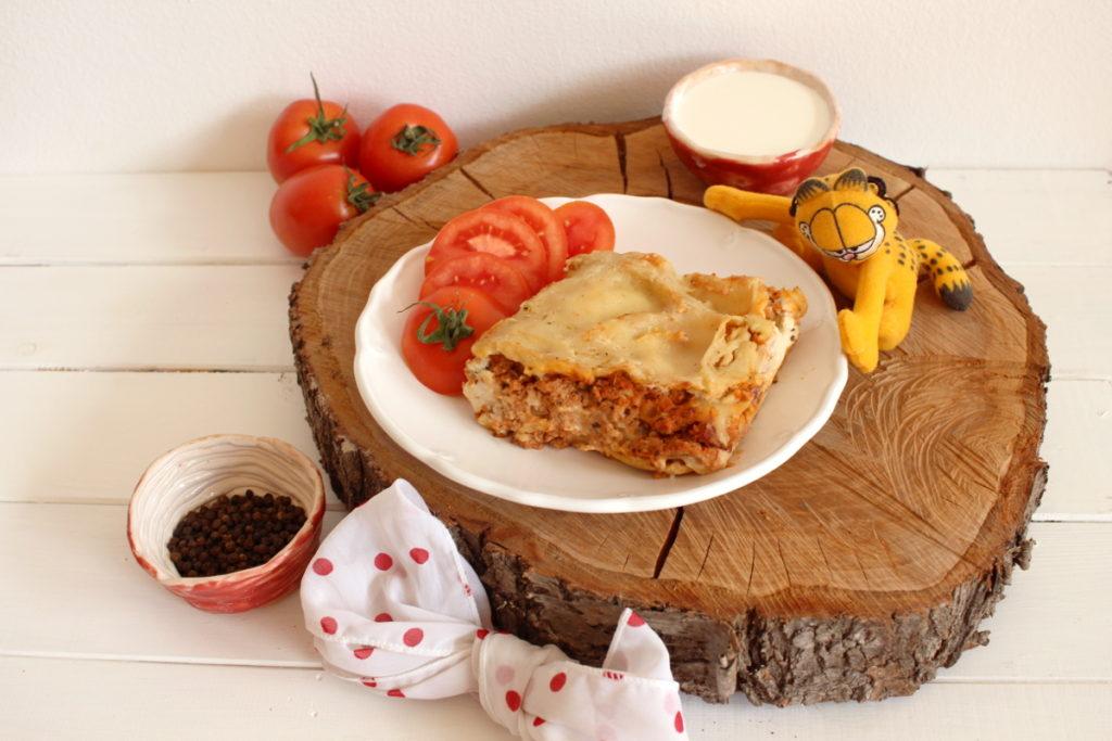 veganské lasagne