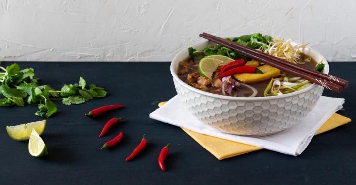 pho - vietnamská polévka ve vegan verzi