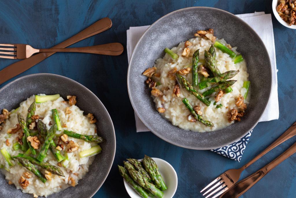 chřestové risotto